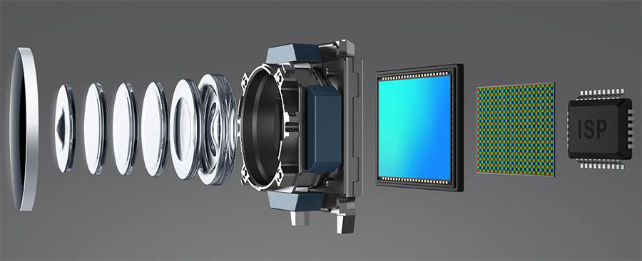 Структура камеры Xiaomi Mi5 с сапфировым стеклом поверх объектива