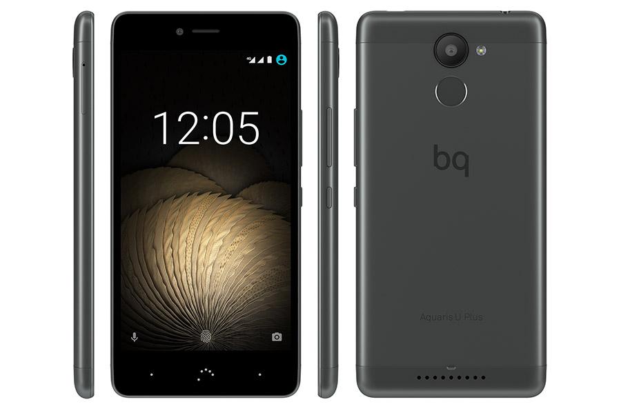 BQ Aquaris U Plus черного цвета