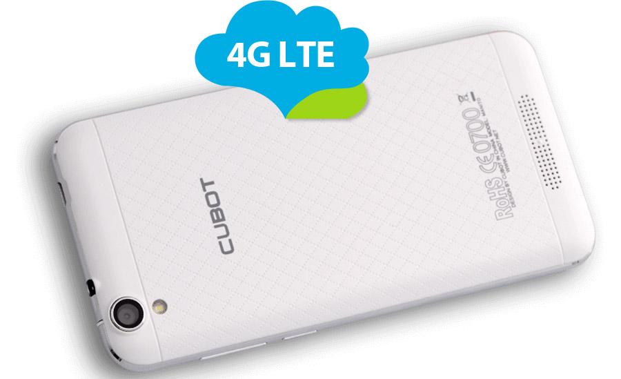 Cubot Manito поддерживает работу в российских частотах LTE