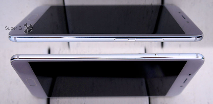 Боковые стороны смартфона Meizu M3E