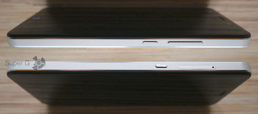 Боковые торцы смартфона UMi Max