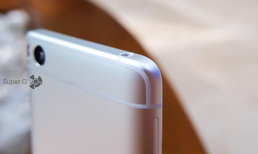 Полоски антенн в Xiaomi Mi5S выкрашены в тон корпуса