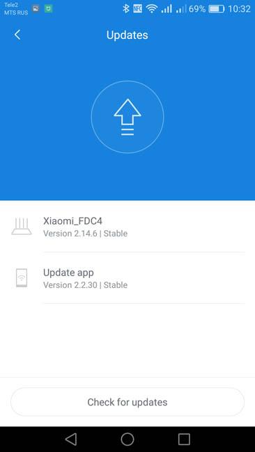 Версия и обновление ПО Xiaomi Mi Router 3