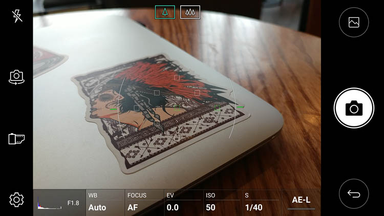 Ручные настройки съемки на LG V20