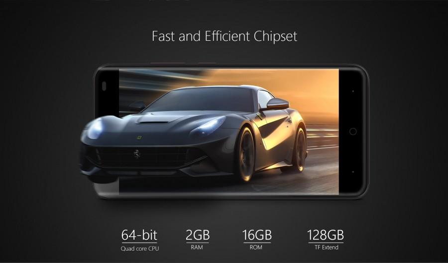 Ulefone Tiger имеет симпатичный дизайн и емкий аккумулятор.