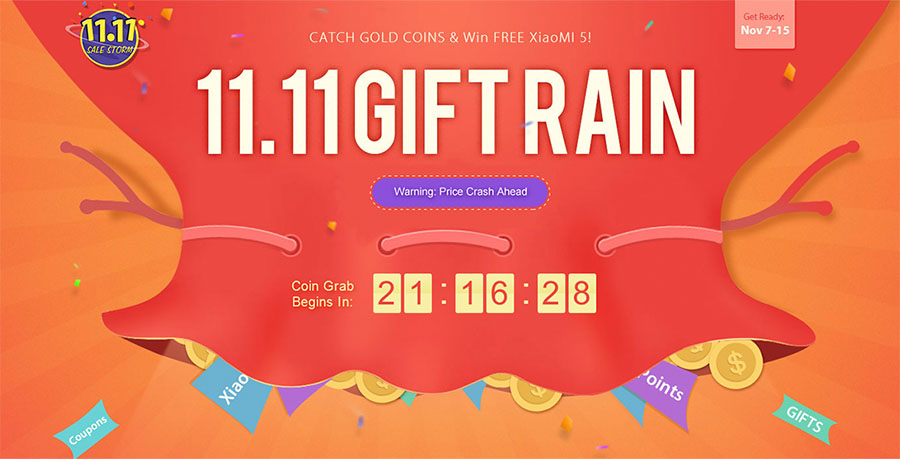 Дождь из подарков на Gearbest в честь 11 ноября 2016 года