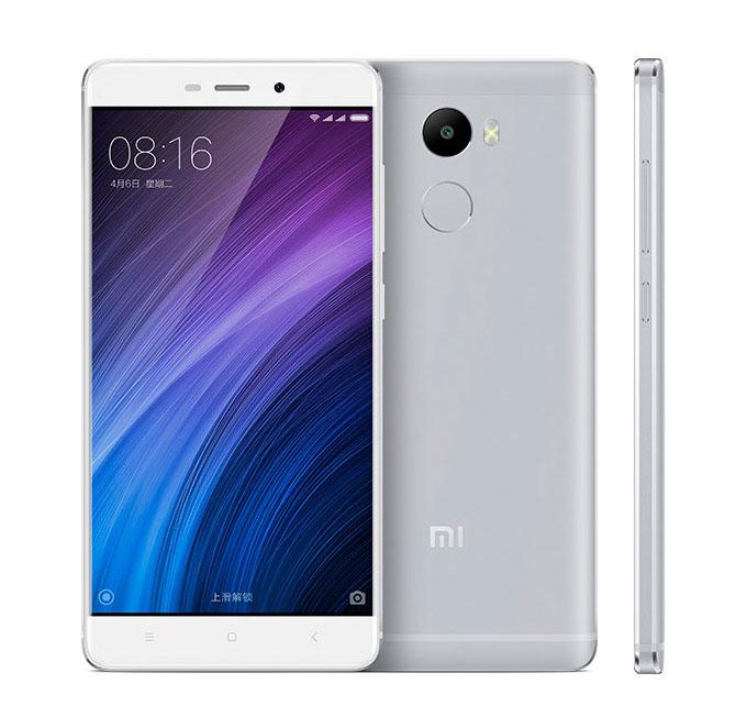 Xiaomi Redmi 4 серебристый и белый