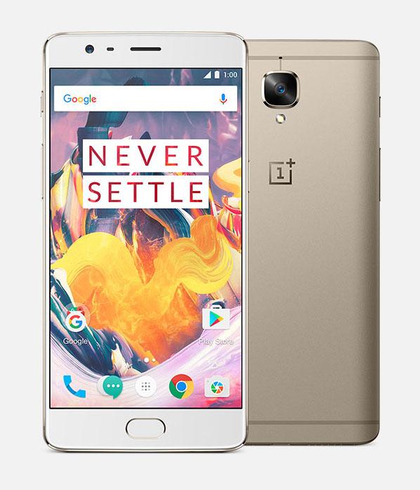 OnePlus 3T золотой