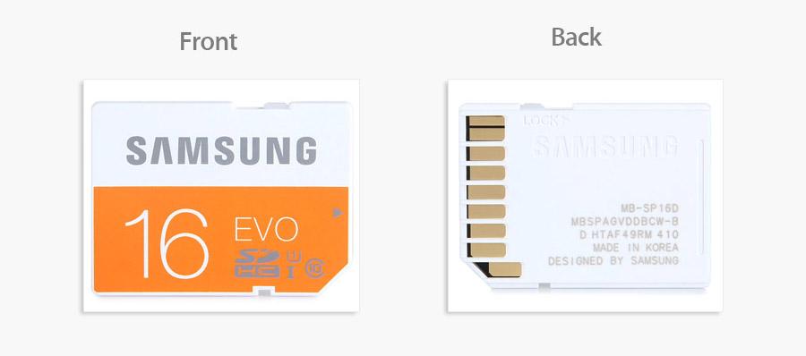 Micro SDXC карточка Samsung EVO UHS-I на 64 ГБ