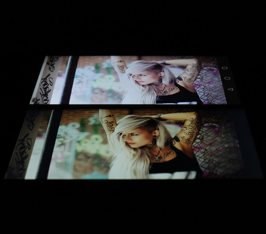 Фото экранов (Huawei Nove Plus сверху, UMi Max снизу) 2