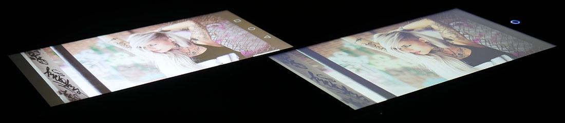 Фото экранов (Huawei Nove Plus слева, UMi Max справа) 2