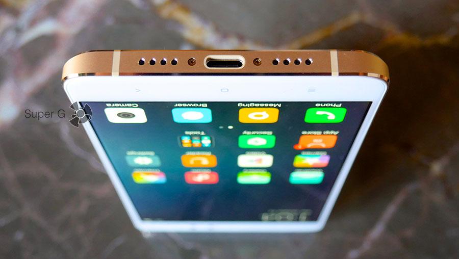 Разъёмы и громкость динамика Xiaomi Mi5S Plus