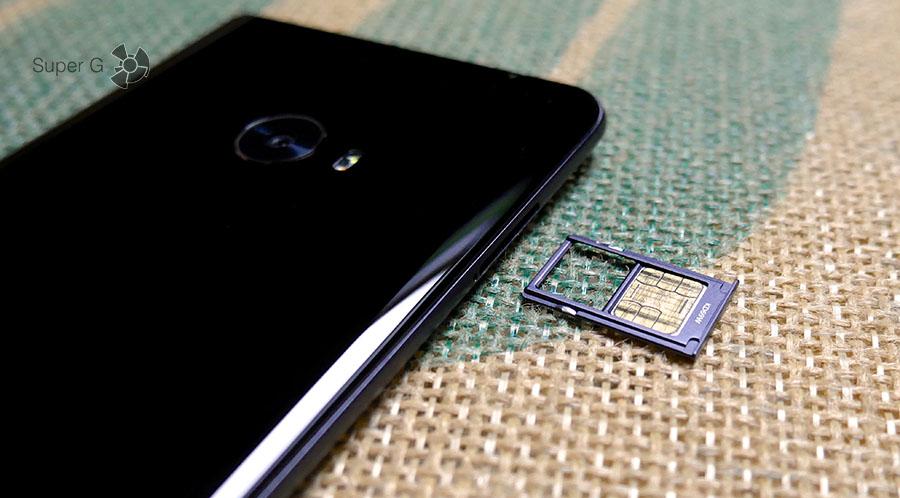 Xiaomi Mi Note 2 поддерживает работу двух SIM-карт
