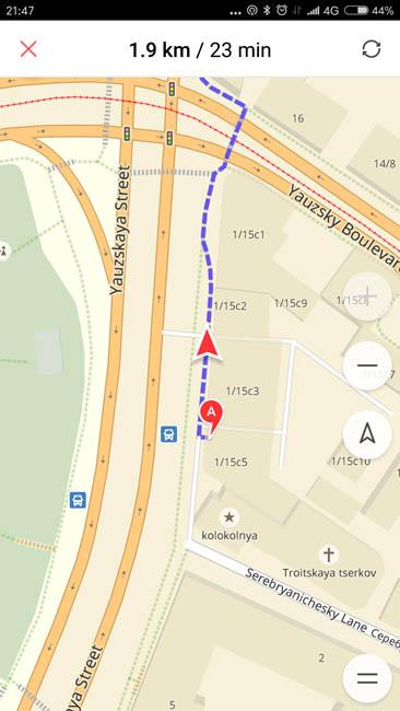 Карты от Яндекса работают на Xiaomi Mi Note 2 намного лучше
