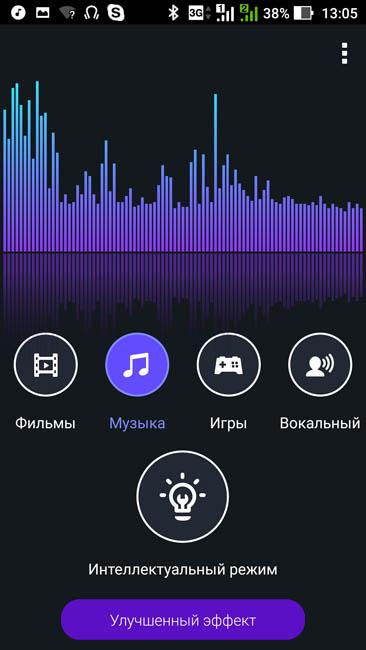 Встроенная утилита для улучшения звука и настройки аудиопрофилей