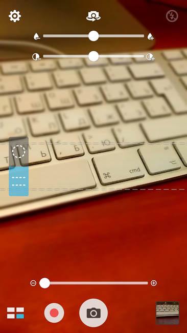 Фильтр миниатюра в камере Asus Zenfone 3
