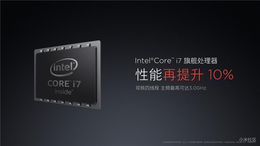 Xiaomi Mi Notebook Air 13.3 получил новый процессор Intel Core i7 3,0 ГГц