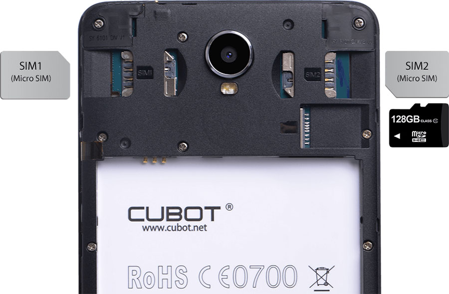 Cubot Max with dual sim and indipendent slot for micro sd