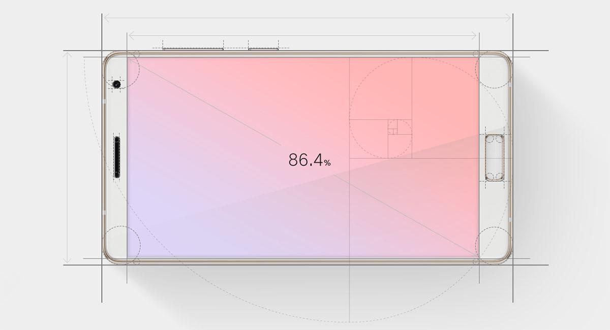 ZUK Edge имеет экран с боковыми рамками 1,63 мм