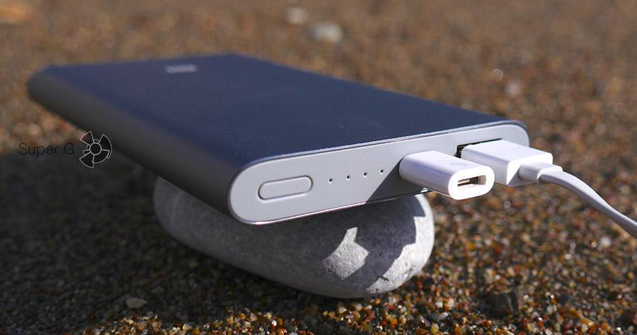 Разъёмы Xiaomi Mi Power Bank Pro