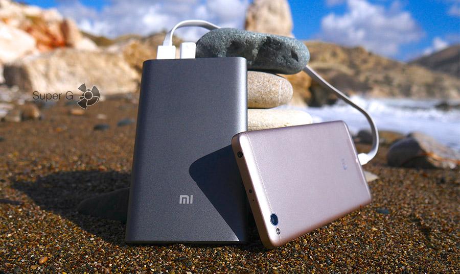 Зарядка смартфонов аккумулятором Xiaomi Mi Power Bank Pro