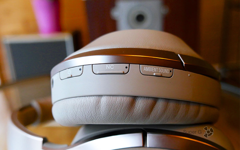 Активация функции шумоподавления в наушниках Sony MDR-1000X