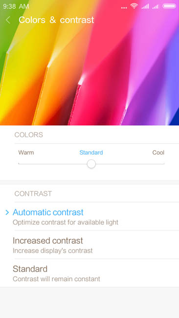 Настройка цветовой гаммы дисплея Xiaomi Redmi 4A