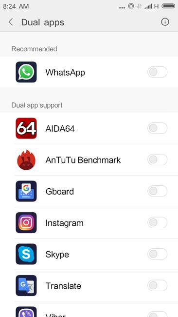 Dual Apps и его работа на Xiaomi Redmi 4A