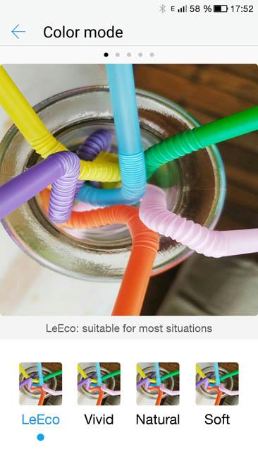 Настройка цветовой гаммы дисплея в LeEco Le 3 Pro