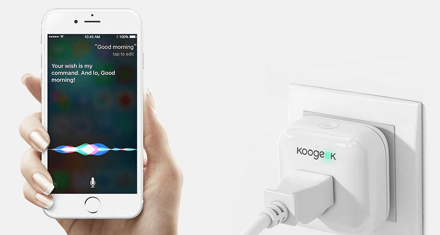 Koogeek Wi-Fi Enabled Smart Plug подключается к смартфону по Wi-Fi