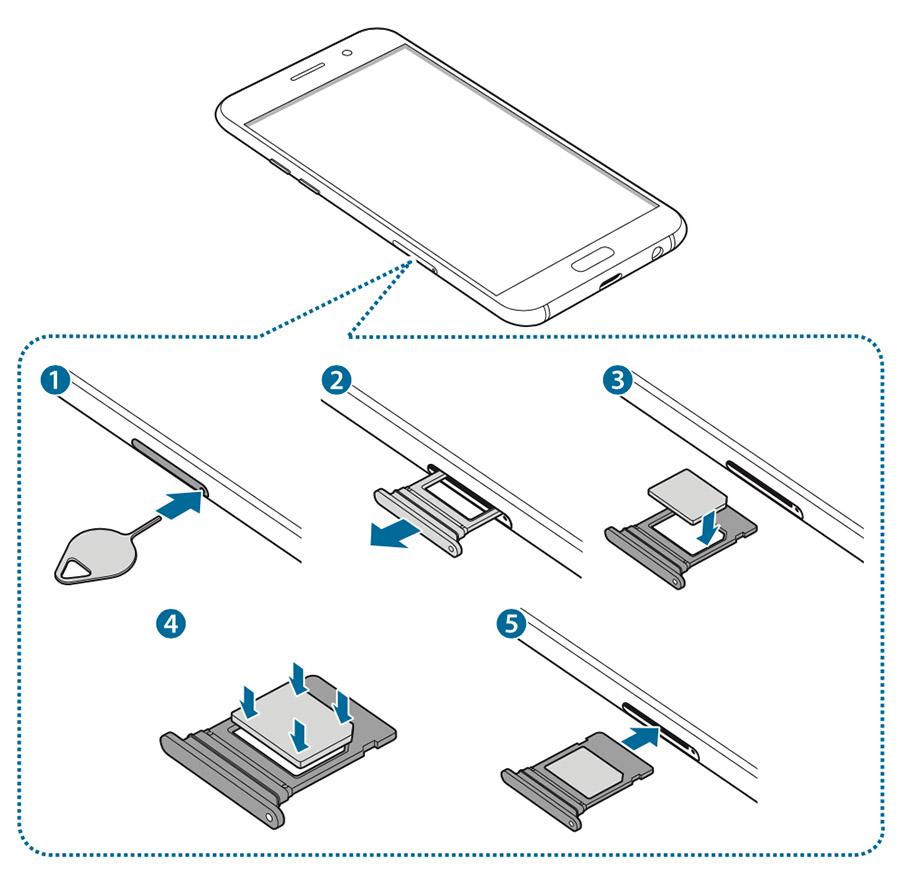 Как устанавливать SIM-карту и Micro SD в Samsung Galaxy A5/A7 (2)