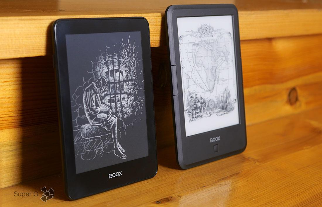 Электронная книга ONYX BOOX Monte Cristo (слева) и ONYX BOOX Vasco da Gama (справа)