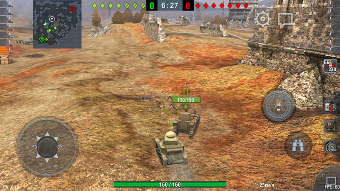 Wordl of Tanks Blitz для Dogee Y6 Piano Black (низкие настройки - 60 fps)