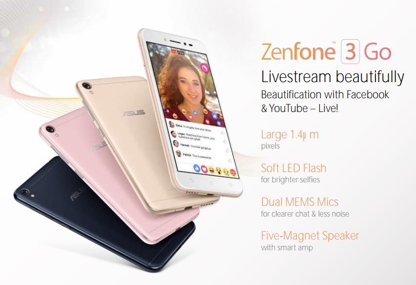 ASUS ZenFone 3 Go дизайн