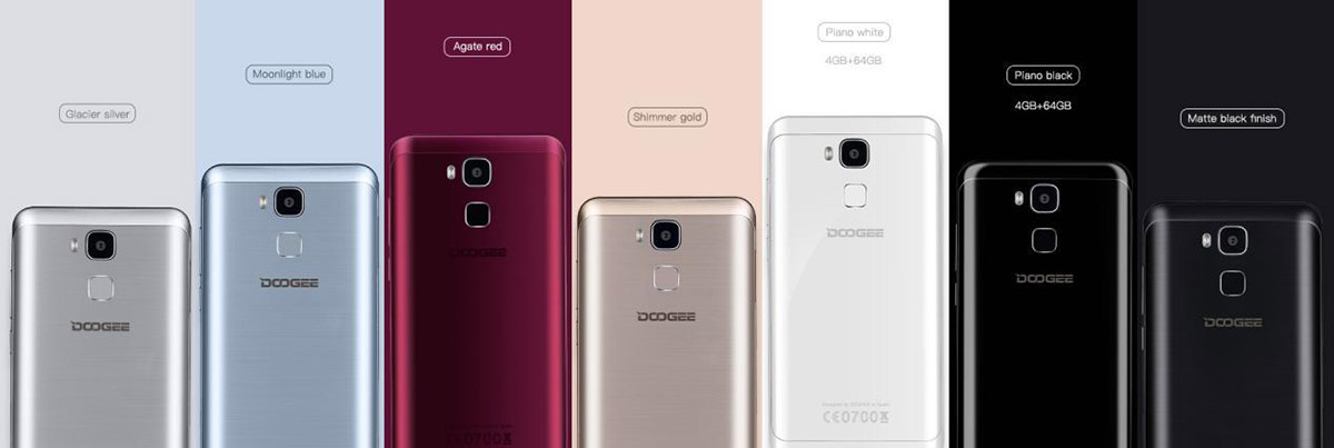Doogee Y6 models and colors