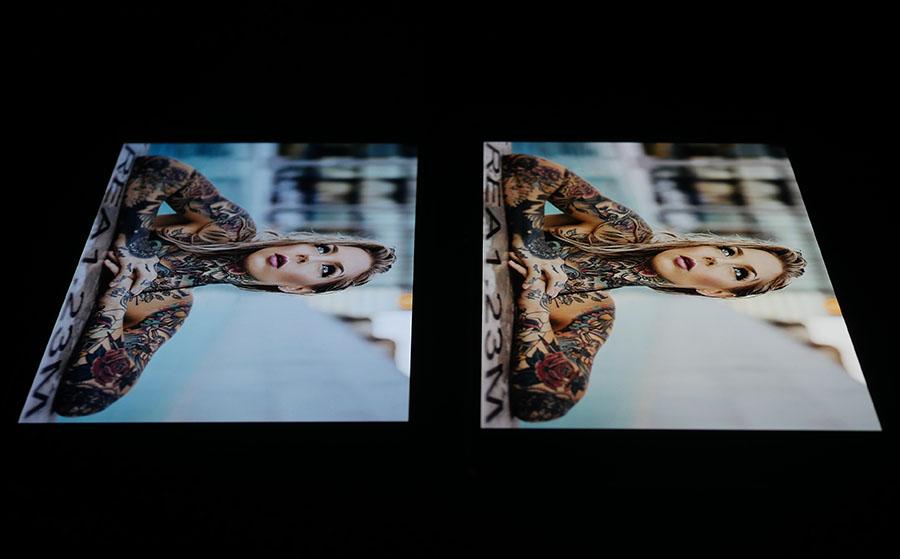 Экран AGM X1 (слева), а дисплей OnePlus 3T (справа) (4)