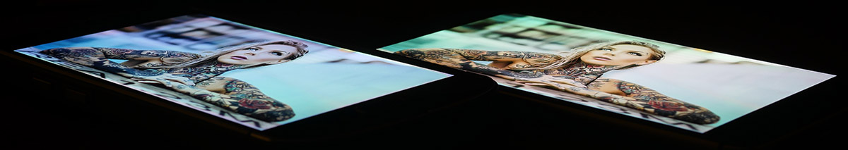 Экран AGM X1 (слева), а дисплей OnePlus 3T (справа) (3)