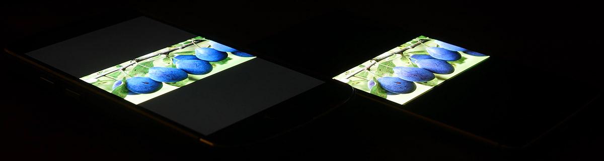 Экран AGM X1 (слева), а дисплей OnePlus 3T (справа)