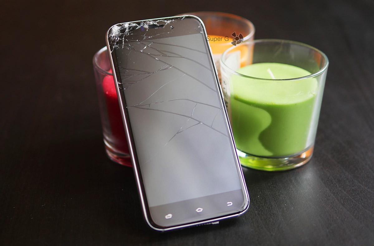 Как разбить смартфон UMi Diamond?