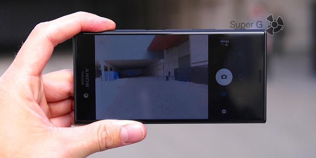 Съёмка на камеру Sony XZs