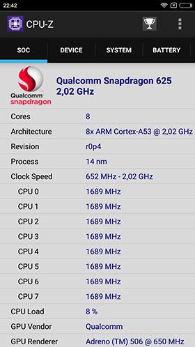 Характеристики в CPU-Z