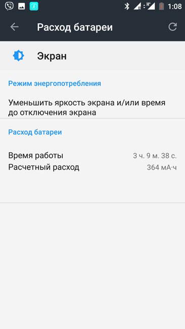 Время работы экрана OnePlus 3T на одном заряде