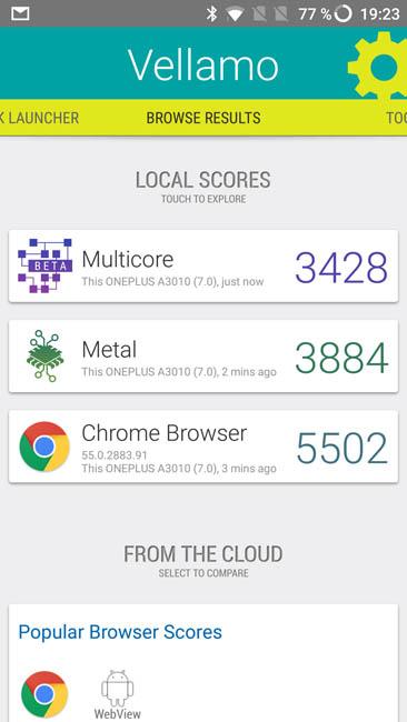 Тест производительности OnePlus 3T в Vellamo