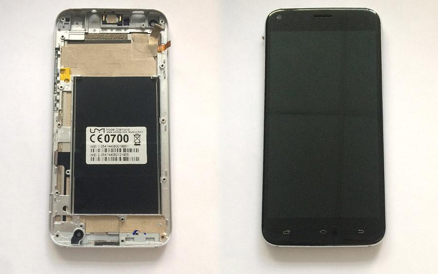 UMi Diamond замена экрана и защитного стекла (разборка)