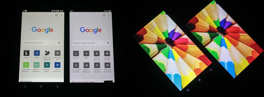 Сравнение дисплеев Lenovo Vibe X2 и Xiaomi Redmi 4 Prime