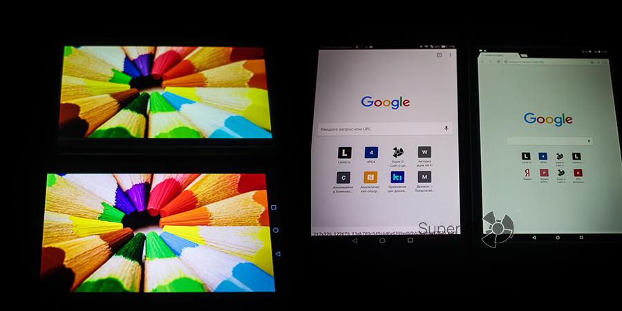 Сравнение дисплеев Huawei MediaPad M3 и Chuwi Hi8 Pro