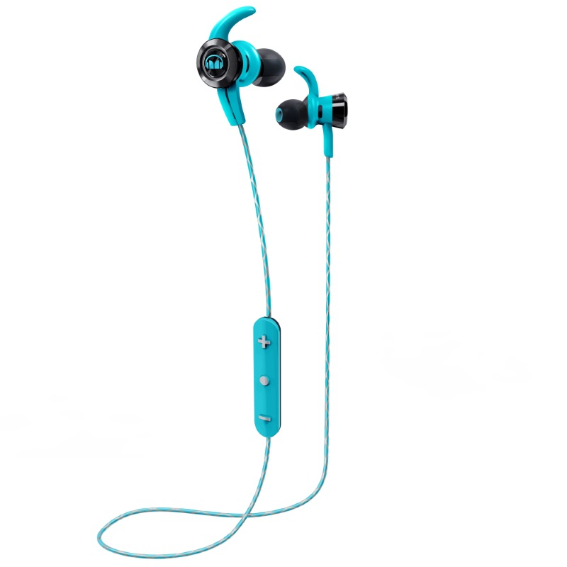 Синие наушники Monster iSport Victory In-Ear Wireless