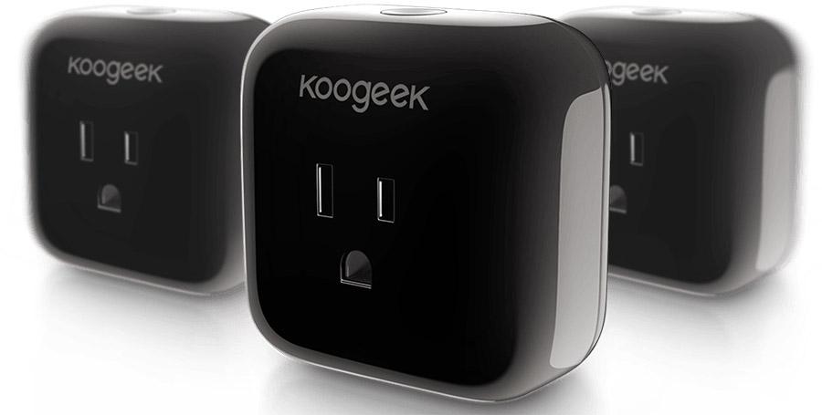 Черный Koogeek SmartPlug P1 Apple HomeKit