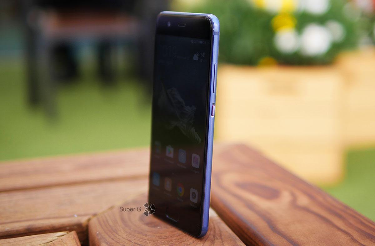 Боковая грань Huawei P10 и его толщина