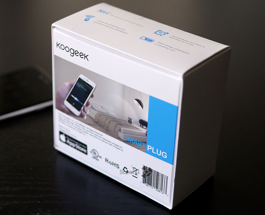Упаковка из-под Koogeek SmartPlug P1